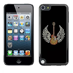 TECHCASE**Cubierta de la caja de protección la piel dura para el ** Apple iPod Touch 5 ** Wings Guitar Music Rock Love Angel Art God Heaven