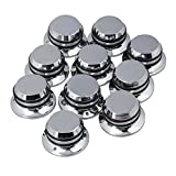 #2: Mxfans 10PCS Silver Hat Guitar Bass Tone Tunning Knobs Replacement for Guiar