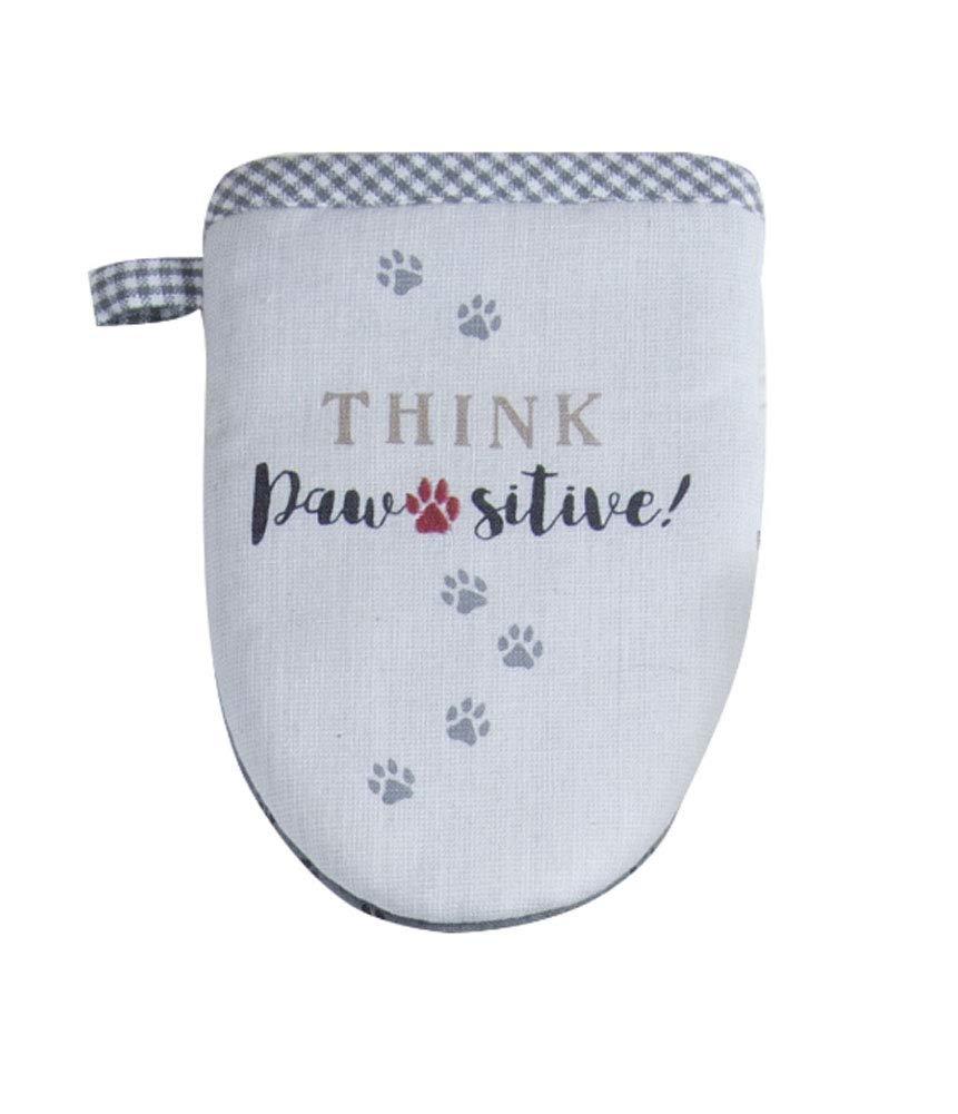 "Kay Dee Designs Pawsitive Embroidered Grabber Mitt, 5.5"" x 7.5"", Various"