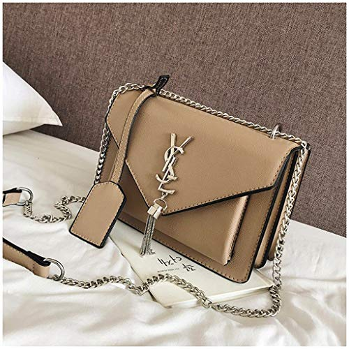 MAEKGX Fashion Flap Cute Crossbody Bags for Women Cell Phone Purse with Chain Handbags for Women,Brass