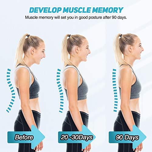 Liaboe Posture Corrector Back for Men Women, Adjustable Posture Corrector Back with Sensor Vibration Reminder, Invisible Recorder Back Support Belt for Neck/Back/Shoulder Pain Relief Universal Support