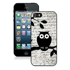 Graceful Owl on Vintage Paper Iphone 5 5s Case Black Cover