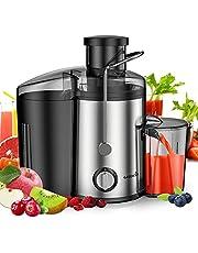 EASEHOLD Centrifugeuse Fruits et Légumes Extracteur de Jus Electrique 400W Double Vitesse en Acier Inoxydable Presse-Agrumes avec Récipient à Jus Pulpe sans BPA
