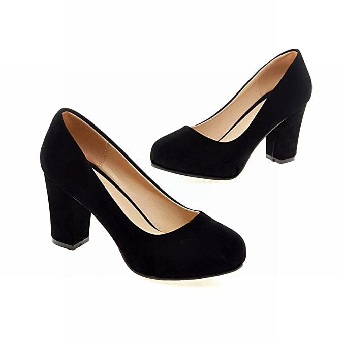 Mee Shoes Womens Nubuck High-heel Sexy Court Shoes: Amazon.co.uk: Shoes &  Bags