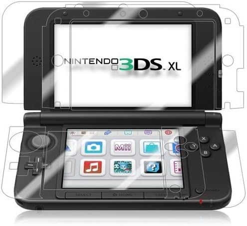 Nintendo 3DS XL Screen Protector + Full Body, Skinomi? TechSkin Full Coverage Skin + Screen Protector for Nintendo 3DS XL Front & Back Clear HD Film - with Lifetime Warranty by Skinomi: