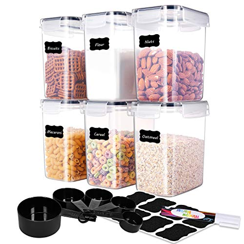 ME.FAN Medium Food Storage Containers [Set of 6] Airtight Storage Keeper...