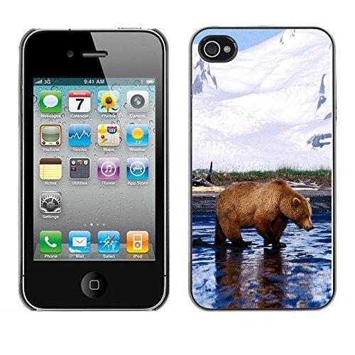 Omega Case PC Polycarbonate Cas Coque Drapeau - Apple iPhone 4 / 4S ( Cool Grizzly Bear )