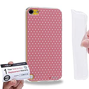 Case88 [Apple iPod Touch 5] Gel TPU Carcasa/Funda & Tarjeta de garantía - Art Coloured Doodle Patterns Pink Dot 1407