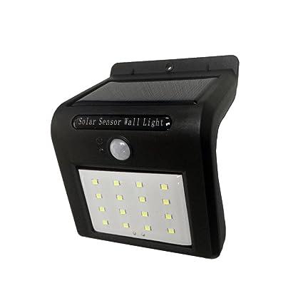 Etop Fashion 16 Ledes Panel Solar Power luz Lámpara de Pared Sensor de Movimiento Luminaria Energía