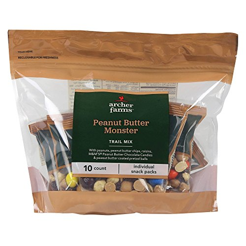 Archer Farms Peanut Butter Monster Trail Mix 10 Individual Snack Packs