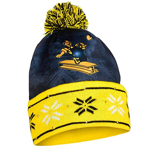 Pittsburgh Steelers Official NFL Big Logo Beanie Stocking Stretch Knit Sock Hat by Forever Collectibles (Big Logo Beanie)