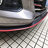 ByLucky- Special Universal Rubber Carbon Fiber Bumper Front Lip;Suitable for Side Skirt Lip Separator! Front Bumper Lip Spoiler,100% Waterproof and Durable(2.5m,Red)