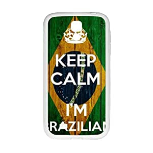 keep calm i'm brazilian Phone Case for Samsung Galaxy S4 Case by mcsharks