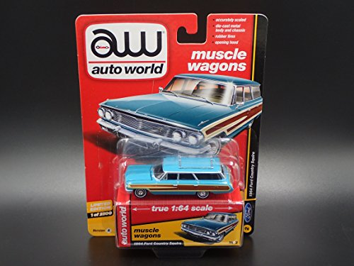 Ford Country Squire Ltd (AUTO WORLD 1964 FORD COUNTRY SQUIRE LIMITED EDITION 2018 REL 1 VER A 1/2500)