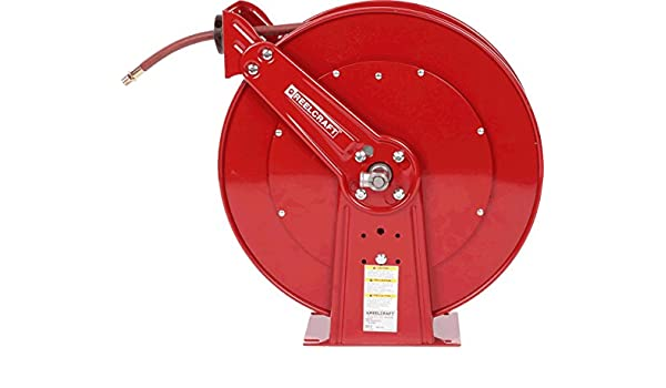 Reelcraft PW7650 OHP Pressure Wash Spring Retractable Hose Reel 4800 Psi 3//8 x 50