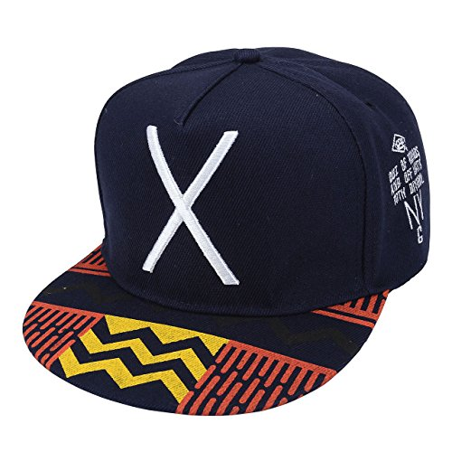 Faleto Big X Unisex Cotton Snapback Trucker Hat Embroidered Hip Hop Dancer Sport Baseball Cap