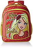 Barbie Polyester 16 Inch Red and Yellow Children's Backpack (Age group :6-8 yrs)