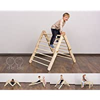 Modifiable Pikler triangle Mopitri, climbing ladder for kids, foldable triangle