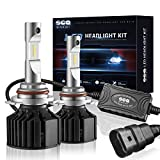 9012/HIR2 LED Headlight Bulbs Conversion Kit ( DOT Approved ) SEALIGHT High Low beam Light Bulbs (9012 HIR2)- HID Xenon White 6000K