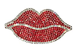 Car Bumper Rhinestone Red Lip Sticker