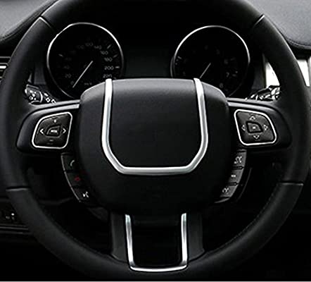 METYOUCAR ABS Steering Wheel Decoration Strips Trim For Land Rover Range Rover Evoque 2012-2017