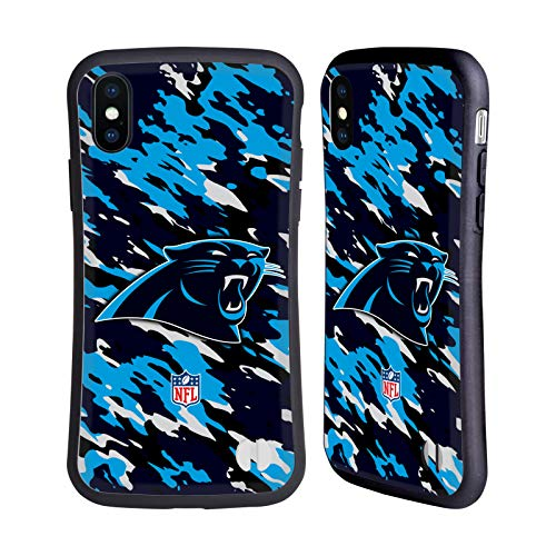 Official NFL Camou Carolina Panthers Logo Hybrid Case for iPhone X/iPhone Xs