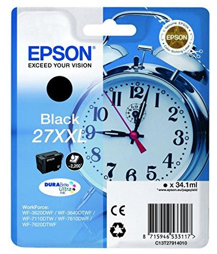 Epson T2791 Tinte Wecker, wisch- und wasserfeste  XXL (Singlepack) schwarz