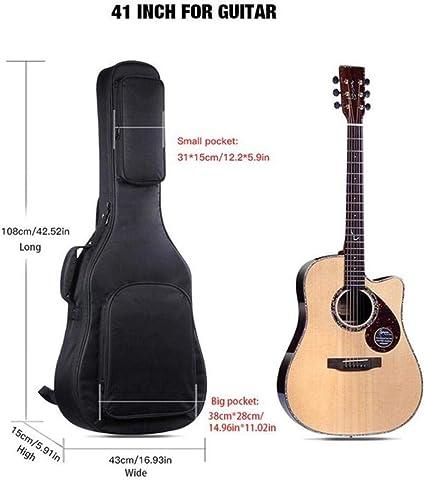 IRIN 39/40/41 Inch Acústica Guitarra clásica Bolsa Estuche Mochila ...