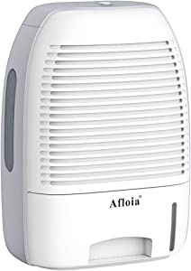 Afloia Dehumidifier for Home,Electric Dehumidifier 52oz Capacity Deshumidificador Quiet Room Dehumidifier Portable Dehumidifiers for Home Bathroom Bedroom Dorm Room Baby Room RV Crawl Space