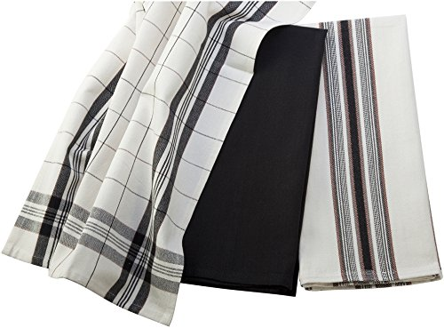 Le Creuset Kitchen Towels, Black (Le Creuset Kitchen Towel)