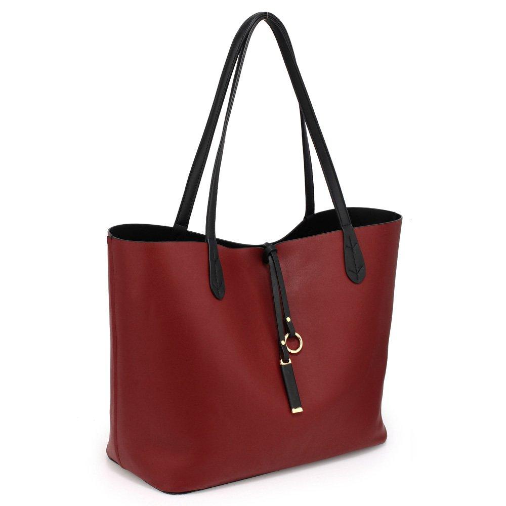 Womens Reversible Bags Ladies Designer Handbags Faux leather Large Size  Shoulder Unique Look 363ef731b0