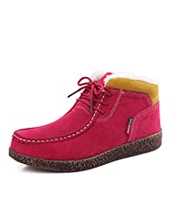 Winter shoes with leather and velvet/Casual flat shoes/ flat-bottom warm shoes/ snail shoes women