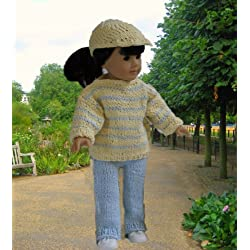 Out for A Walk: Doll knitting pattern