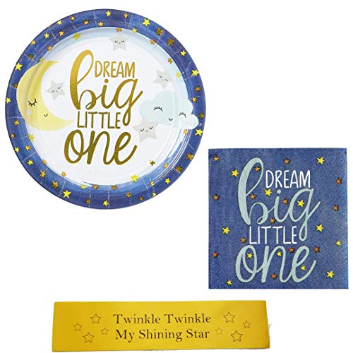 (Twinkle Twinkle Little Star, Gender Reveal Party Small Bundle with Bonus Printed)
