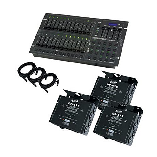 American DJ Stage Pak 2 | 24 Channel DMX Stage Dimmer Lighting Controller Console Package Stage Setter-24 DP-415