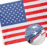 Bright-Life American Flag - 2x3 Ft USA Garden Flags Decor with Embroidered Stars/Sewn Stripes/Brass Grommets, Good for American Pride - Indoor/Outdoor Use