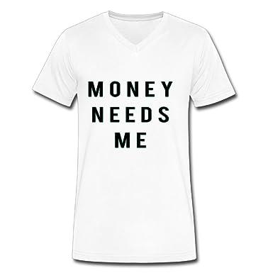 Neck Short Sleeve Cotton T Shirt For Men Money Needs Me Tee Shirts  SizeKey1White f1b7c6b134e6