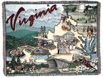 - Simply Home State of Virginia Tapestry Toss Blanket Throw USA Made SKU RTP042553