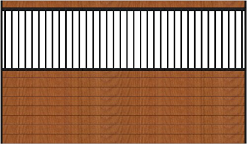 PS12GS 12ft wide grilled horse stall side wall. Black Steel by Country Manufacturing (Image #2)