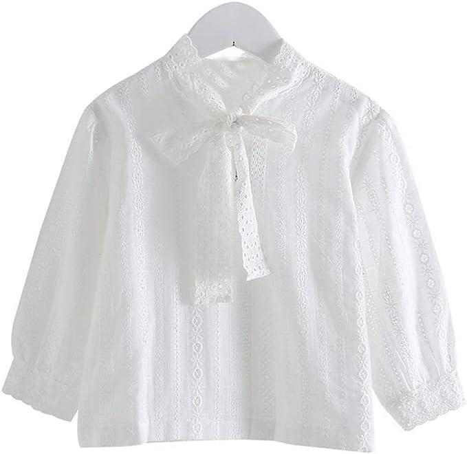 K-Youth Ropa Bebe Niña Invierno Encaje Lazo Camiseta Manga Larga ...