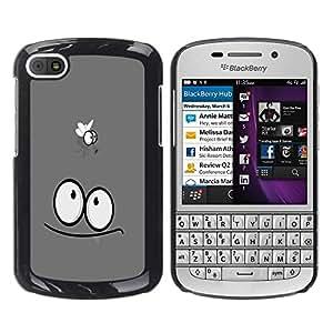 TECHCASE**Cubierta de la caja de protección la piel dura para el ** BlackBerry Q10 ** Funny Fly