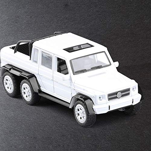 (Bseion Six-Wheeled Off-Road Vehicle Three Open Doors Pickup Truck 1:32 Alloy Car Sound and Light Pull Back Toy Vehicle Friction Inertia Vehicle Children's Birthday Toys Car)