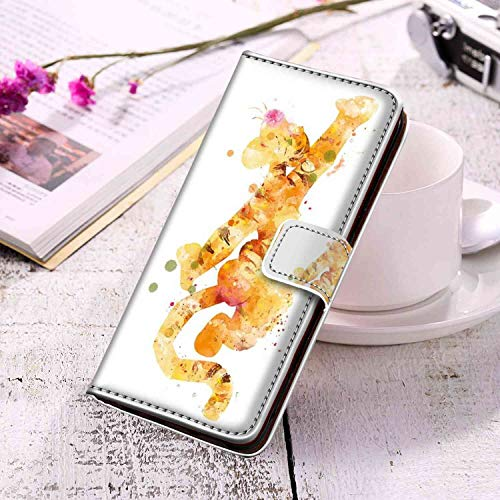 Phone Wallet Case Fit for Samsung Galaxy S10 (2019) (6.1in) A Watercolor Cute Tigger -