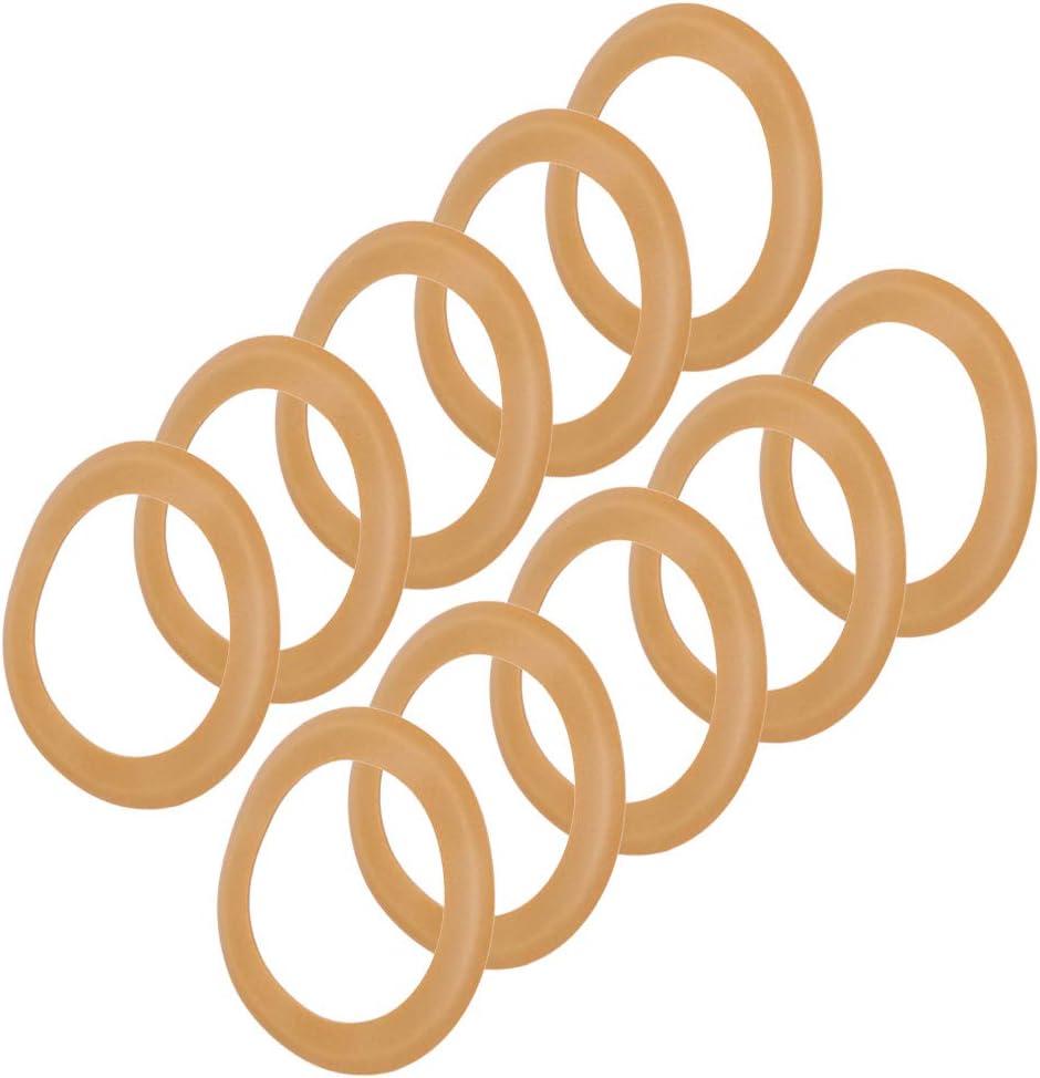 10 piezas Kit de reparaci/ón de bomba de pist/ón con anillo de pist/ón de goma aislado para compresor de aire silencioso sin aceite 550w Anillo de goma del cilindro