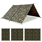 Aqua Quest Defender Tarp - 100% Waterproof Heavy Duty Nylon Bushcraft Survival Shelter - 10x7, 10x10, 13x10, Camo or Olive Drab