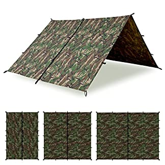 Aqua Quest Defender Tarp - 100% Waterproof Heavy Duty Nylon Bushcraft Survival Shelter