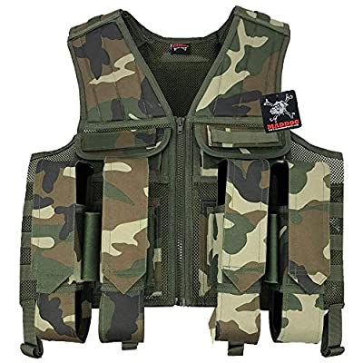 Maddog Tactical Paintball Battle Vest - Woodland Camo