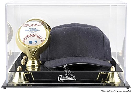 St. Louis Cardinals Acrylic Cap and Baseball Logo Display Case - Mlb Baseball Cap Display Case