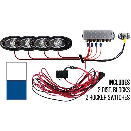 Rigid Industries Signature Series Deck Light Kit - 2 Cool White, 2 Blue Lights by Rigid Industries