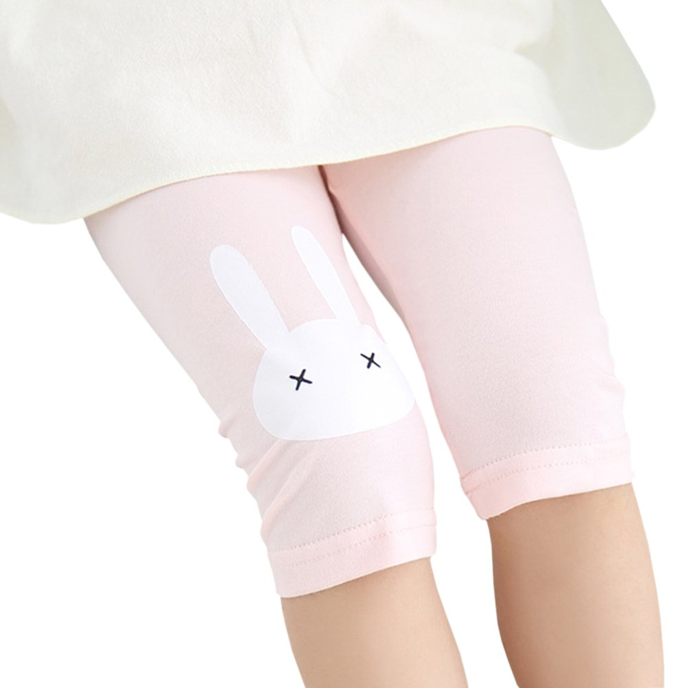 X/&F Little Girls Cute Rabbit Capri Tights Summer Short Pants Leggings
